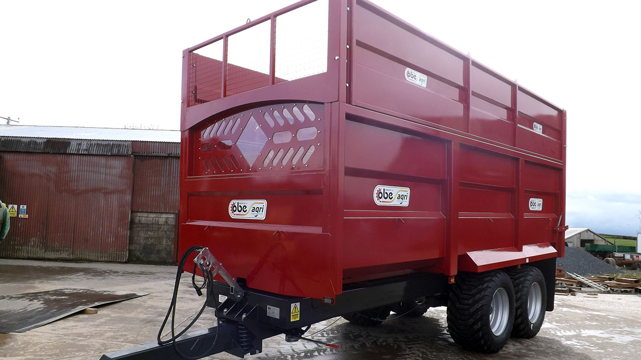 Red monocoque trailer