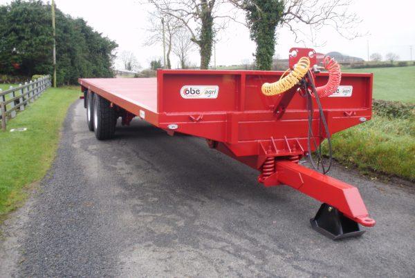 Red pallet trailer