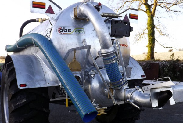 Galvanised 1300 gallon slurry tanker