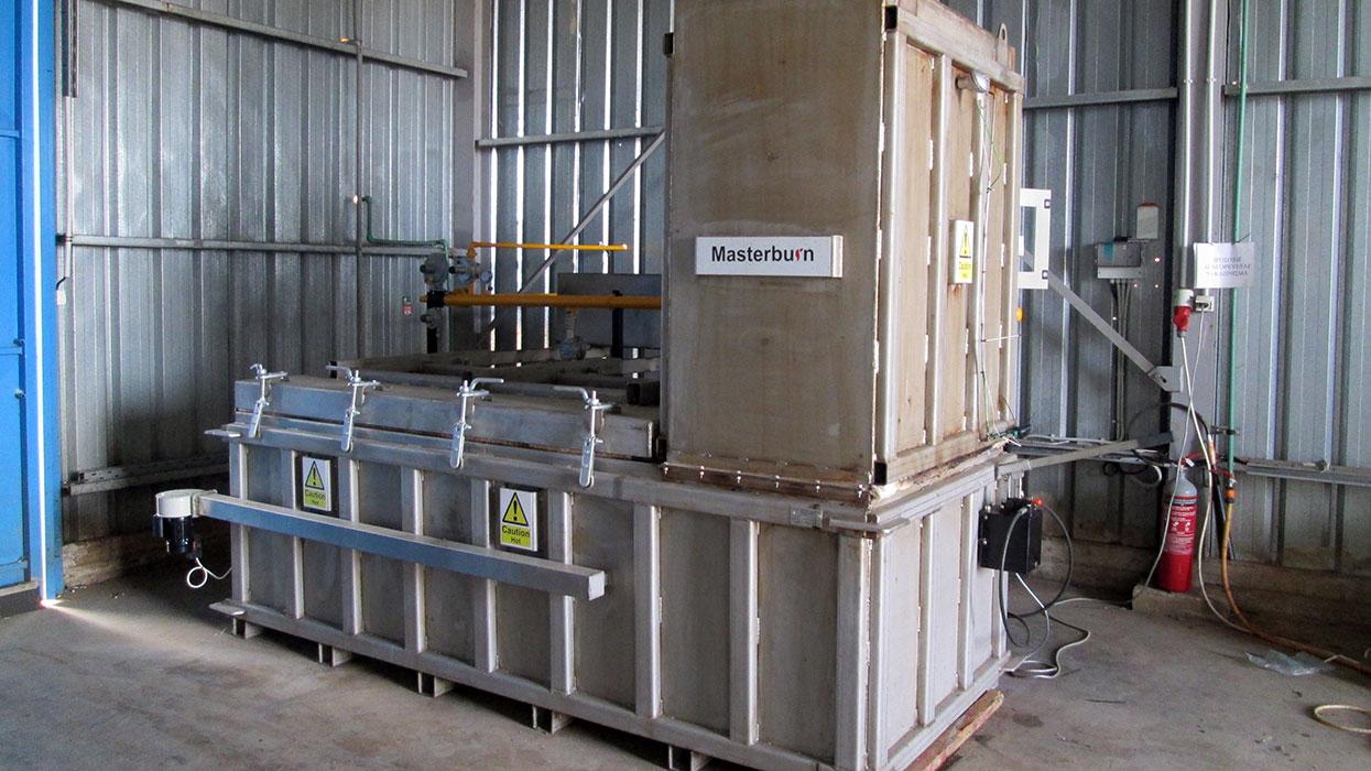 MB1200 incinerator