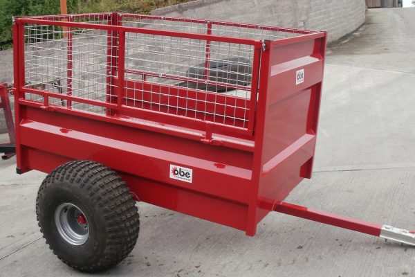 Red ATV trailer