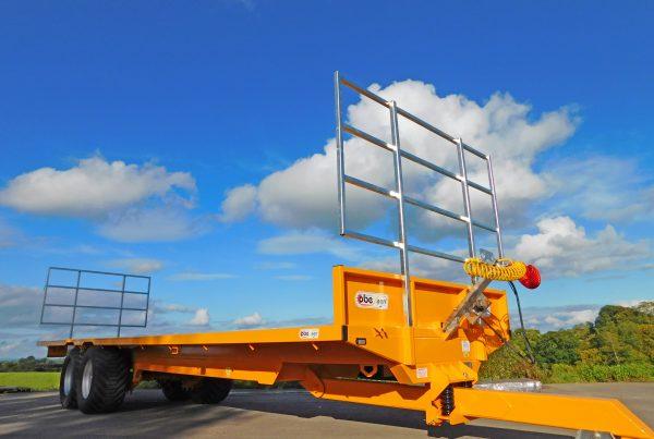Yellow bale trailer