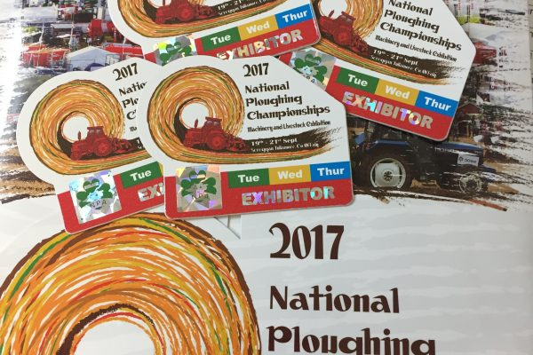 Ploughing 2017 brochure and badges